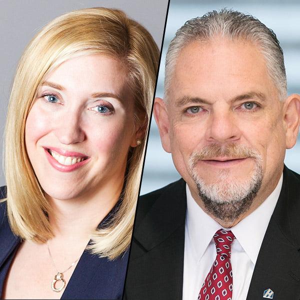 Tara Zecevic (Equifax Canada) and Ed Karthaus (Home Trust Company)